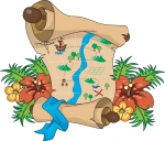 blackline master map of treasure island lesson plans for teaching teachers