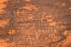 Petroglyphs in the Valley of Fire