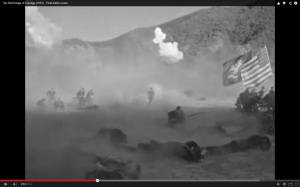 Screenshot from the MGM film, The Red Badge of Courage: note the Flag of NY in shot.