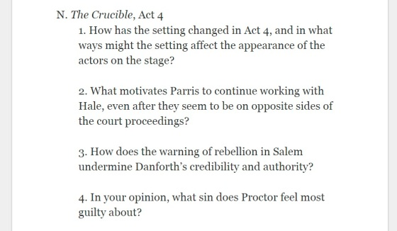 Crucible Act 4 Notes